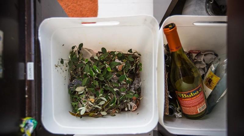 konyhai hulladék tárolás: 1 szelektív és 1 komposztos, Copyright: Michael Clemens