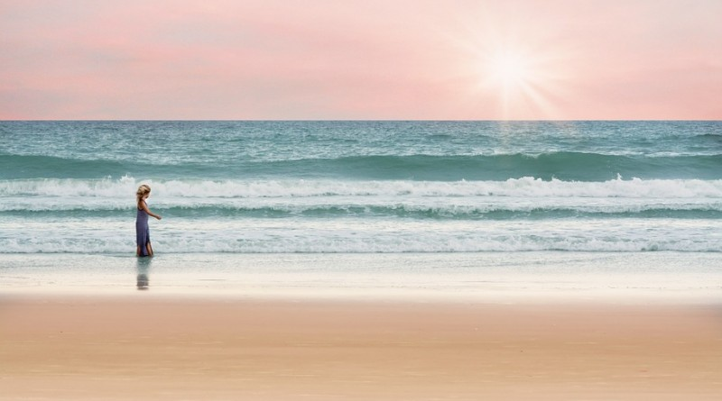 Nyári tengerpart  - hűvös pasztellek