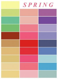 Tavaszi színek Kép: Pinterest